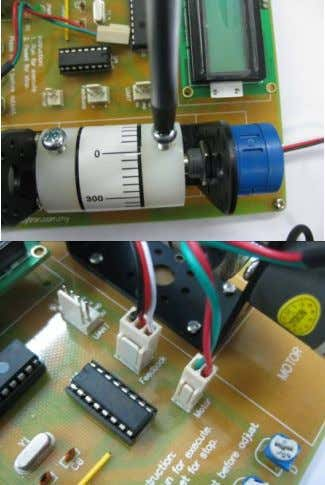 that, connect the potentiometer and motor respectively. F i g u r e 5 0 7.