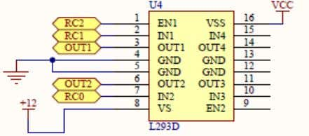 d=81 Interface L293D with PIC16F876A Figure 13 L293D is used as motor driver in this project,