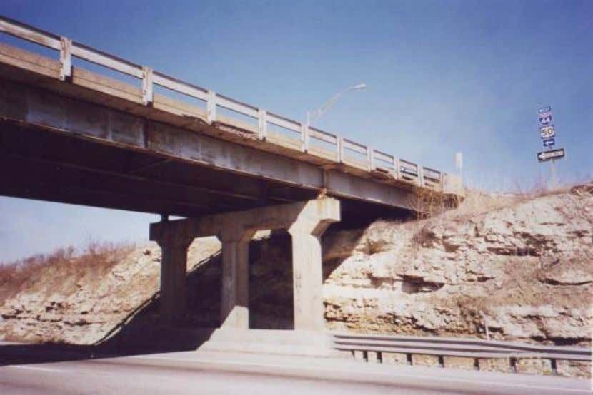 Route 100 over I-44 Original Bridge