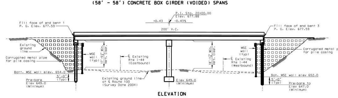 Route 100 over I-44 VE Proposal – Adjacent Box Beams