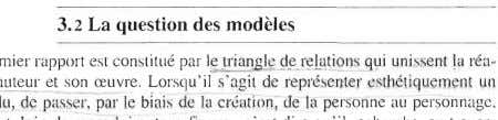 3.2 La question des modèles ré ation-;:- de l a pe rsonne au pers-onnage ,