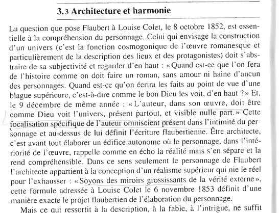 3.3 Architecture et harmonie La question que pose Flaubert à Louise Colet, le 8 octobre