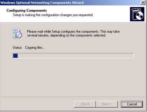 Details . The Configuring Components dialog box appears. 4. Click Next to continue. The Managing and