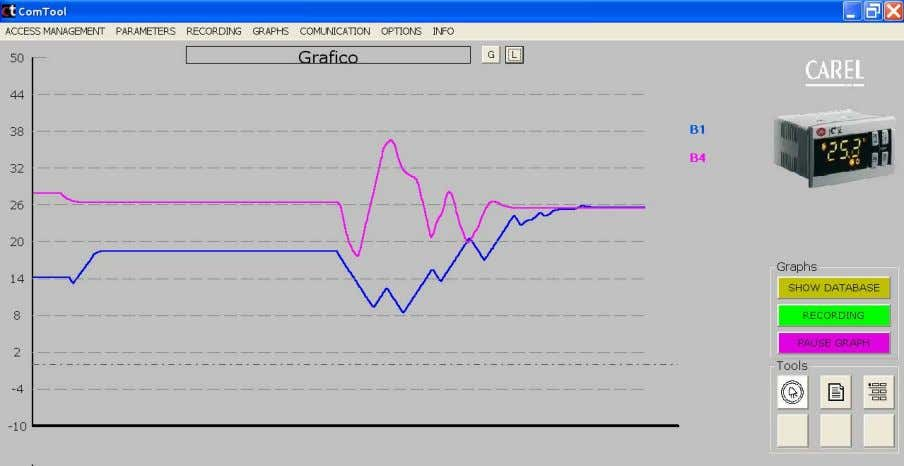 3. The graph can be saved again after a certain period of time by clicking