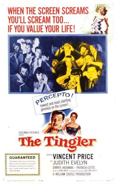 onesheet Main Attraction tHe tingler (1959) original us Castle scary Schlockmeister William Castle was a master