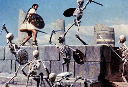 1000 words above special effects 'stripped to tHe bone': Jason and tHe argonauts scenes in his