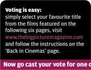 Voting is easy: simply select your favourite title from the films featured on the following