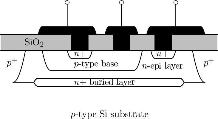BJT Structures Junction-Isolated Bipolar Junction Transistor ECE216 Chapter 7 – Bipolar Junction Transistors 7.6