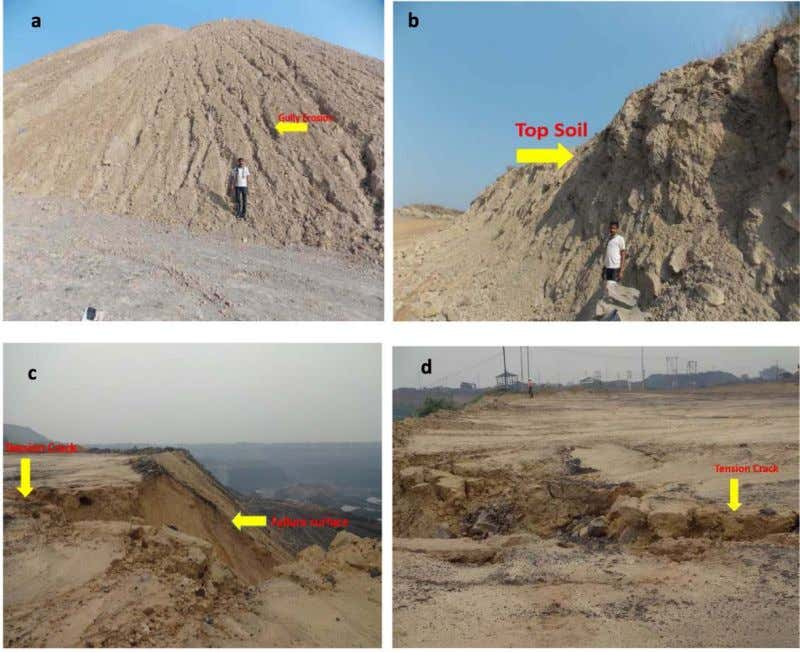 728 PRASANTA KUMAR BEHERA AND OTHERS Fig.5. Field photographs showing: (a) Gully erosion, (b) Weathered top