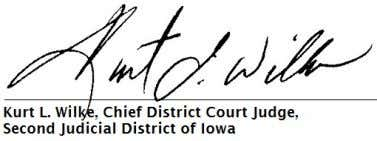 CVCV019540 STATE OF IOWA VS. XCENTRIC VENTURES LLC Electronically signed on 2014-08-07 11:27:35 So Ordered page