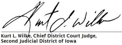 OF IOWA VS. XCENTRIC VENTURES LLC Type: OTHER ORDER Electronically signed on 2014-08-08 15:38:17 So Ordered
