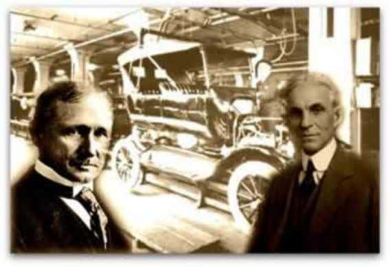 Frederick Winslow Taylor e Henry Ford.