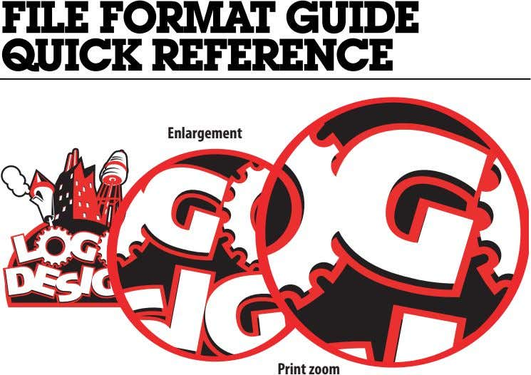 FILEFORMATGUIDE QUICK REFERENCE Enlargement Print zoom