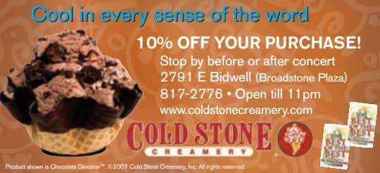 CoolCool inin everyevery sensesense ofof thethe wordword 10% OFF YOUR PURCHASE! Stop by before or